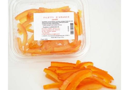 Scorzetta d'arancia a filetti